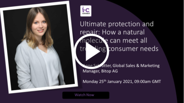 """LIVE from in-cosmetics Connect: Ection® natural """"extremolyte"""" protection from Bitop"""