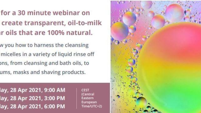 Keep it fluid! Liquid micellar oils with new MICROMULSE™ LB