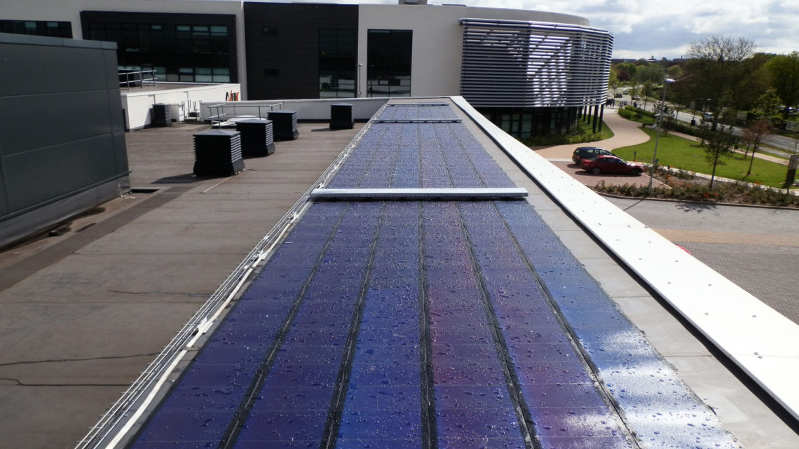 newscastle under lyme collage solar roof
