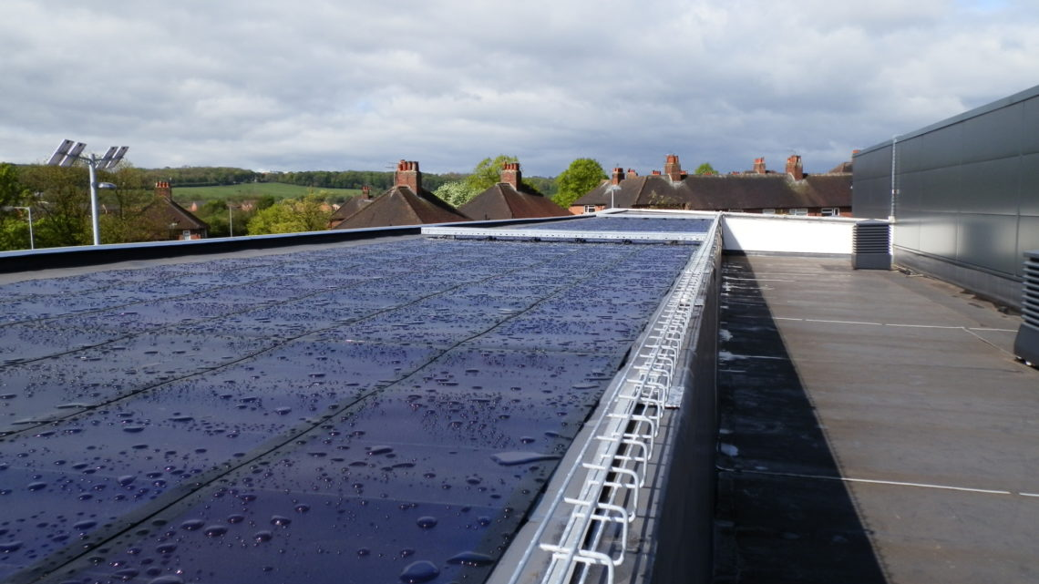 newcastle under lyme college blue waterproof roof