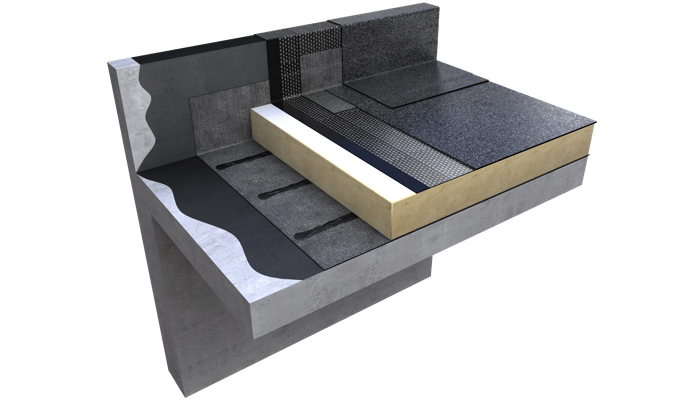 3 D still Excel warm roof concrete structure no finishes