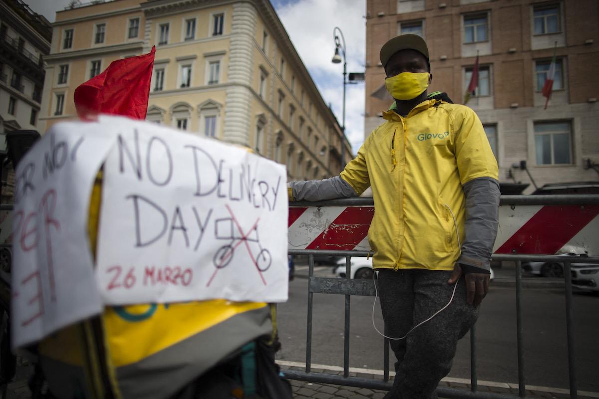 Person protesting